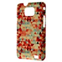 Modern Hipster Triangle Pattern Red Blue Beige Samsung Galaxy S II i9100 Hardshell Case (PC+Silicone) View3
