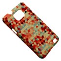 Modern Hipster Triangle Pattern Red Blue Beige Samsung Galaxy S II i9100 Hardshell Case (PC+Silicone) View5
