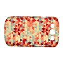 Modern Hipster Triangle Pattern Red Blue Beige Samsung Galaxy S III Classic Hardshell Case (PC+Silicone) View1