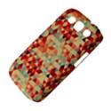 Modern Hipster Triangle Pattern Red Blue Beige Samsung Galaxy S III Classic Hardshell Case (PC+Silicone) View4