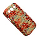 Modern Hipster Triangle Pattern Red Blue Beige Samsung Galaxy S III Classic Hardshell Case (PC+Silicone) View5