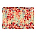 Modern Hipster Triangle Pattern Red Blue Beige Apple iPad Mini Hardshell Case (Compatible with Smart Cover) View1