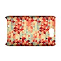 Modern Hipster Triangle Pattern Red Blue Beige Samsung Galaxy Note 2 Hardshell Case (PC+Silicone) View1