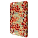 Modern Hipster Triangle Pattern Red Blue Beige Kindle Fire HD 8.9  View3