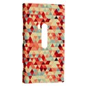 Modern Hipster Triangle Pattern Red Blue Beige Nokia Lumia 920 View2