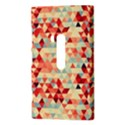 Modern Hipster Triangle Pattern Red Blue Beige Nokia Lumia 920 View3