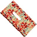 Modern Hipster Triangle Pattern Red Blue Beige Nokia Lumia 920 View5