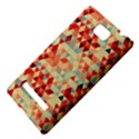 Modern Hipster Triangle Pattern Red Blue Beige HTC 8S Hardshell Case View4