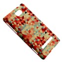 Modern Hipster Triangle Pattern Red Blue Beige HTC 8S Hardshell Case View5
