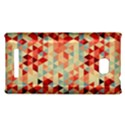 Modern Hipster Triangle Pattern Red Blue Beige HTC 8X View1