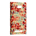 Modern Hipster Triangle Pattern Red Blue Beige HTC 8X View2