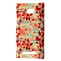 Modern Hipster Triangle Pattern Red Blue Beige HTC 8X View3