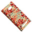 Modern Hipster Triangle Pattern Red Blue Beige HTC 8X View5