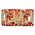 Modern Hipster Triangle Pattern Red Blue Beige HTC Butterfly X920E Hardshell Case View1