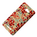 Modern Hipster Triangle Pattern Red Blue Beige HTC Butterfly X920E Hardshell Case View4