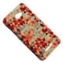 Modern Hipster Triangle Pattern Red Blue Beige HTC Butterfly X920E Hardshell Case View5
