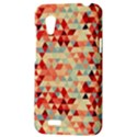 Modern Hipster Triangle Pattern Red Blue Beige HTC Desire VT (T328T) Hardshell Case View3