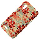 Modern Hipster Triangle Pattern Red Blue Beige HTC Desire VT (T328T) Hardshell Case View4