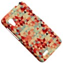 Modern Hipster Triangle Pattern Red Blue Beige HTC Desire VT (T328T) Hardshell Case View5