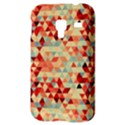 Modern Hipster Triangle Pattern Red Blue Beige Samsung Galaxy Ace Plus S7500 Hardshell Case View3