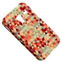 Modern Hipster Triangle Pattern Red Blue Beige Samsung Galaxy Ace Plus S7500 Hardshell Case View5