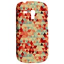 Modern Hipster Triangle Pattern Red Blue Beige Samsung Galaxy S3 MINI I8190 Hardshell Case View2