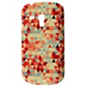 Modern Hipster Triangle Pattern Red Blue Beige Samsung Galaxy S3 MINI I8190 Hardshell Case View3