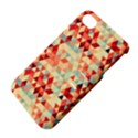 Modern Hipster Triangle Pattern Red Blue Beige Apple iPhone 4/4S Hardshell Case with Stand View4