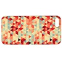 Modern Hipster Triangle Pattern Red Blue Beige Apple iPhone 5 Hardshell Case with Stand View1
