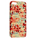Modern Hipster Triangle Pattern Red Blue Beige Apple iPhone 5 Hardshell Case with Stand View2