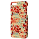 Modern Hipster Triangle Pattern Red Blue Beige Apple iPhone 5 Hardshell Case with Stand View3