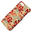 Modern Hipster Triangle Pattern Red Blue Beige Apple iPhone 5 Hardshell Case with Stand View4