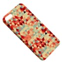 Modern Hipster Triangle Pattern Red Blue Beige Apple iPhone 5 Hardshell Case with Stand View5