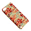 Modern Hipster Triangle Pattern Red Blue Beige Apple iPod Touch 5 Hardshell Case with Stand View5