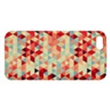 Modern Hipster Triangle Pattern Red Blue Beige Apple iPhone 5 Premium Hardshell Case View1
