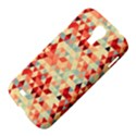Modern Hipster Triangle Pattern Red Blue Beige Samsung Galaxy S4 I9500/I9505 Hardshell Case View4