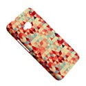 Modern Hipster Triangle Pattern Red Blue Beige HTC One M7 Hardshell Case View5