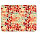Modern Hipster Triangle Pattern Red Blue Beige Samsung Galaxy Tab 7  P1000 Flip Case View1