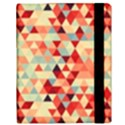 Modern Hipster Triangle Pattern Red Blue Beige Samsung Galaxy Tab 10.1  P7500 Flip Case View3