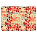 Modern Hipster Triangle Pattern Red Blue Beige Samsung Galaxy Tab 8.9  P7300 Flip Case View1