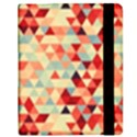 Modern Hipster Triangle Pattern Red Blue Beige Samsung Galaxy Tab 8.9  P7300 Flip Case View2