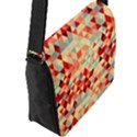 Modern Hipster Triangle Pattern Red Blue Beige Flap Messenger Bag (L)  View2