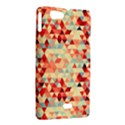 Modern Hipster Triangle Pattern Red Blue Beige Sony Xperia Miro View2