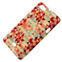 Modern Hipster Triangle Pattern Red Blue Beige Sony Xperia Miro View4
