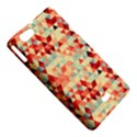 Modern Hipster Triangle Pattern Red Blue Beige Sony Xperia Miro View5
