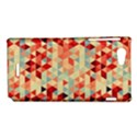 Modern Hipster Triangle Pattern Red Blue Beige Sony Xperia J View1