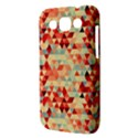 Modern Hipster Triangle Pattern Red Blue Beige Samsung Galaxy Win I8550 Hardshell Case  View3