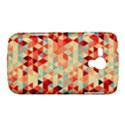Modern Hipster Triangle Pattern Red Blue Beige Samsung Galaxy Duos I8262 Hardshell Case  View1