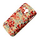 Modern Hipster Triangle Pattern Red Blue Beige Samsung Galaxy Duos I8262 Hardshell Case  View4
