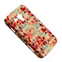 Modern Hipster Triangle Pattern Red Blue Beige Samsung Galaxy Duos I8262 Hardshell Case  View5